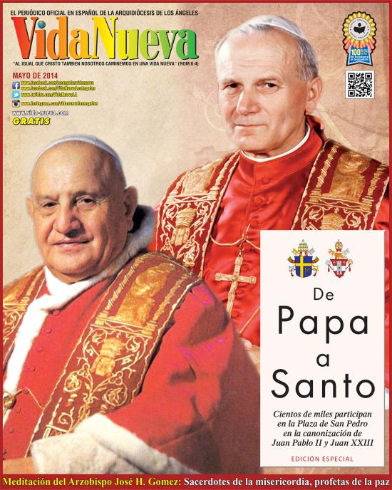 <!--:es-->CIENTOS DE MILES PARTICIPAN EN LA PLAZA DE SAN PEDRO EN LA CANONIZACIÓN DE JUAN PABLO II Y JUAN XXIII<!--:-->