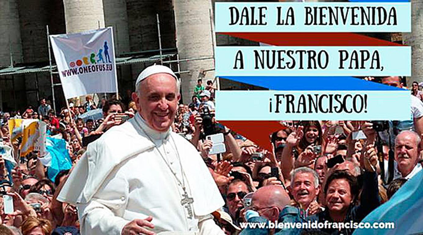 """<!--:es-->HISPANOS DE ESTADOS UNIDOS PREPARAN """"ABRAZO"""" EN REDES SOCIALES AL PAPA FRANCISCO<!--:-->"""