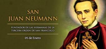 <!--:es-->HOY ES FIESTA DE SAN JUAN NEUMANN, OBISPO DE FILADELFIA EN ESTADOS UNIDOS<!--:-->
