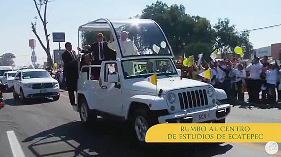 <!--:es-->EL PAPA FRANCISCO LLEGÓ A ECATEPEC, SEGUNDA ESCALA EN MÉXICO<!--:-->