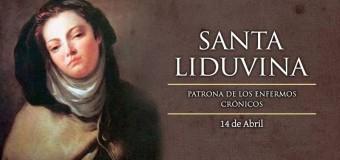 HOY SE CONMEMORA A SANTA LIDUVINA, PATRONA DE LOS ENFERMOS CRÓNICOS