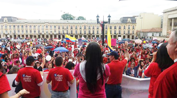MÁS DE 150 MIL MARCHAN POR LA VIDA Y CONTRA EL ABORTO EN COLOMBIA