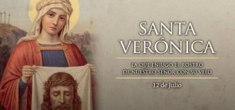 HOY ES LA FIESTA DE SANTA VERÓNICA, A QUIEN SE LE IMPREGNÓ EL ROSTRO DE CRISTO EN SU VELO