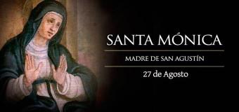 CELEBRANDO A SANTA MÓNICA, PATRONA DE MUJERES CASADAS Y MODELO DE MADRES CRISTIANAS