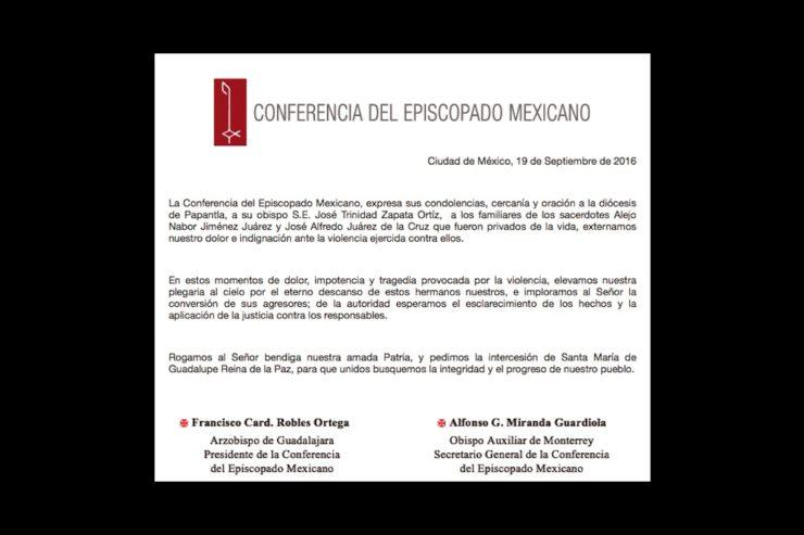 DOLOR EN MÉXICO POR DOS SACERDOTES SECUESTRADOS Y ASESINADOS