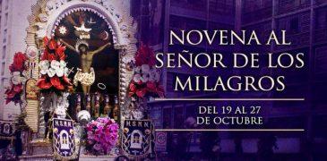 19 DE OCTUBRE: INICIA LA NOVENA AL SEÑOR DE LOS MILAGROS