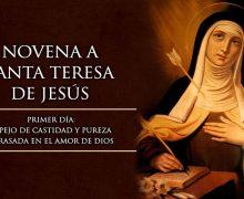 HOY INICIAMOS LA NOVENA A SANTA TERESA DE JESÚS, DOCTORA DE LA IGLESIA