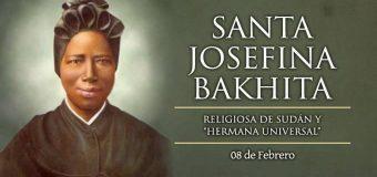 LA IGLESIA CATÓLICA CELEBRA A SANTA JOSEFINA BAKHITA, EJEMPLO DE ESPERANZA CRISTIANA