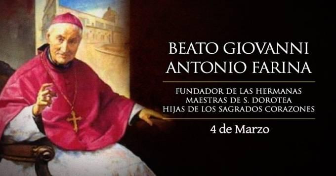 """4 DE MARZO: FIESTA DEL BEATO GIOVANNI ANTONIO FARINA, EL """"OBISPO DEL PUEBLO"""""""