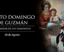 HOY ES FIESTA DE SANTO DOMINGO DE GUZMÁN, A QUIEN LA VIRGEN LE ENTREGÓ EL ROSARIO