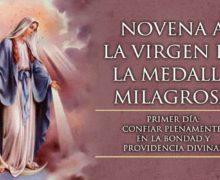 SE INICIA LA NOVENA A LA VIRGEN DE LA MEDALLA MILAGROSA