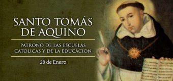 HOY ES LA FIESTA DE SANTO TOMÁS DE AQUINO, DOCTOR DE LA IGLESIA