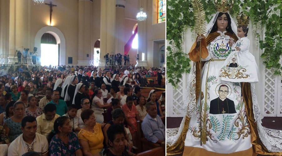 MILES DE FIELES CELEBRARON A LA VIRGEN MARÍA EN EL SALVADOR