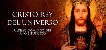 ¡FELIZ SOLEMNIDAD DE CRISTO REY!