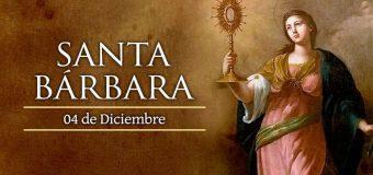 FIESTA DE SANTA BÁRBARA, VIRGEN Y MÁRTIR