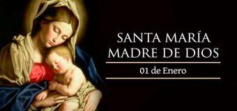 ¡FELIZ SOLEMNIDAD DE MARÍA, MADRE DE DIOS!
