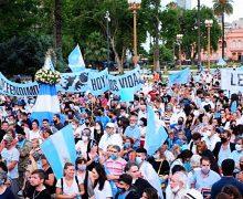VIRGEN DE LUJÁN ENCABEZÓ PRIMERA MANIFESTACIÓN POR LA VIDA Y CONTRA EL ABORTO EN ARGENTINA