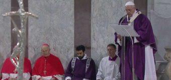 PAPA FRANCISCO EN MIÉRCOLES DE CENIZA: LA CUARESMA ES UN VIAJE DE REGRESO A DIOS